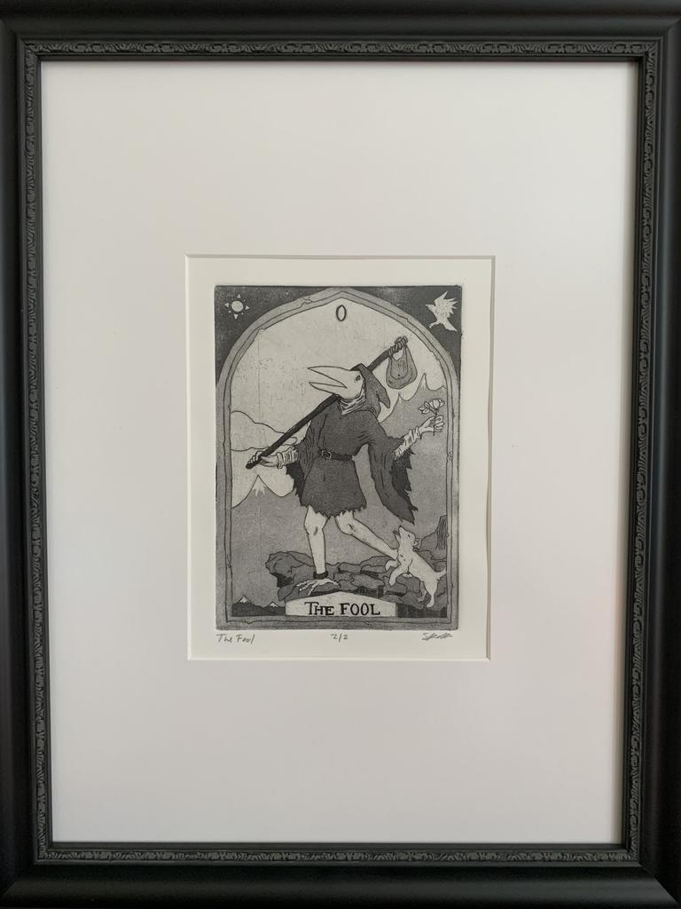 "Priscila Rivera, ""The Fool,"" 2020, intaglio, 16 x 12 inches"