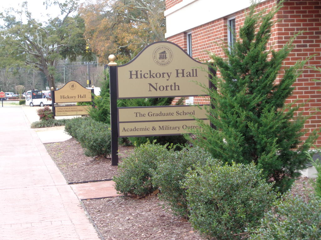 Hickory Hall North Sign