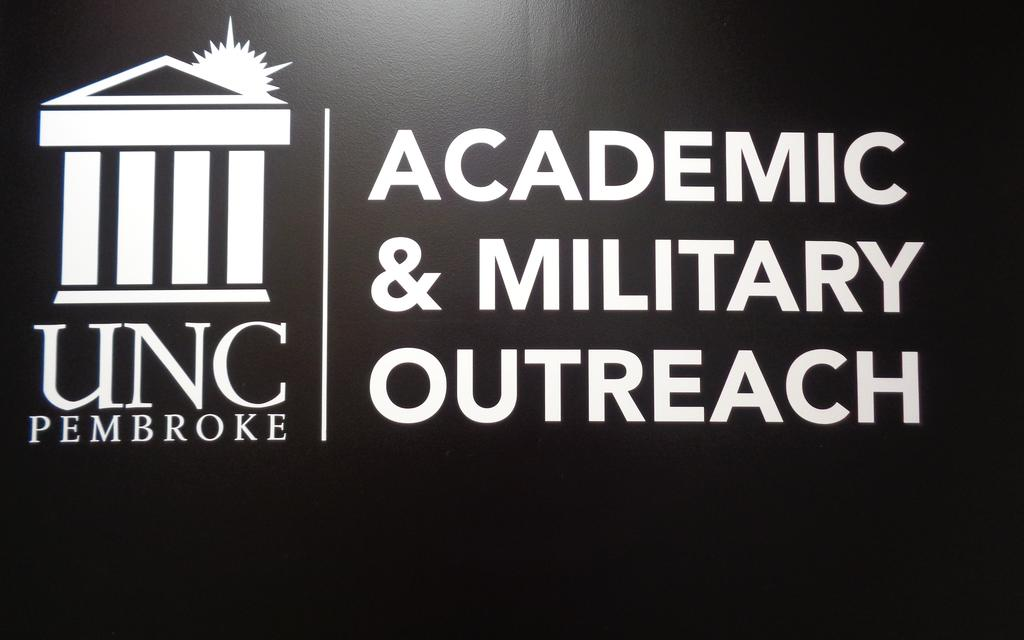 Academic & Military Outreach Sign