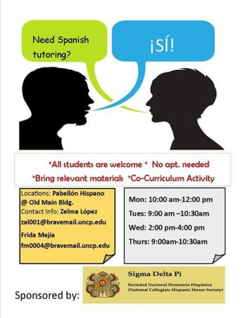 Advertisement for Spanish Tutoring
