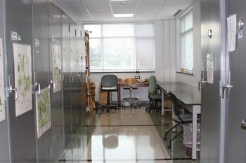 View inside the Herbarium.