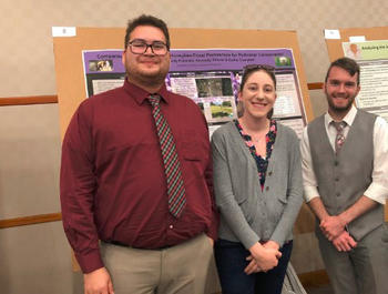 Brandon Herron, faculty mentor Dr. Kaitlin Campbell, and Cody Eubanks (pictured from left to right)