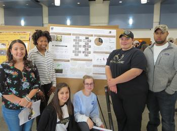 Microbiology students present their CURE research. See the gallery below for more photos.