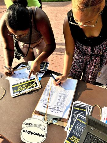 Charming UNCP Students Sign A Pledge To Be A #Hero4Zero As Part Of NCDOTu0027s Vision  Zero Campaign To Eliminate Traffic Deaths In Robeson County Good Ideas