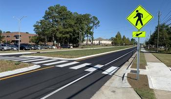 Prospect Road underwent a $5 million reconstruction to improve safety near campus