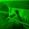 Brandon Herron uses green light to study Antarctic algae